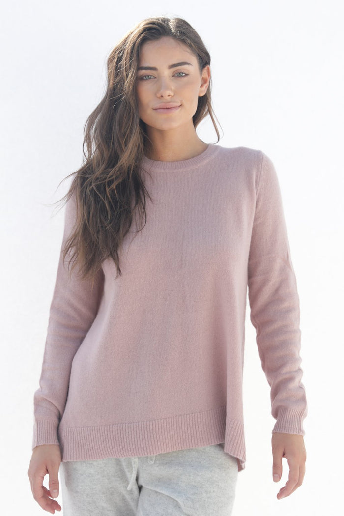 Oats Cashmere Kendra Sweater, Blush