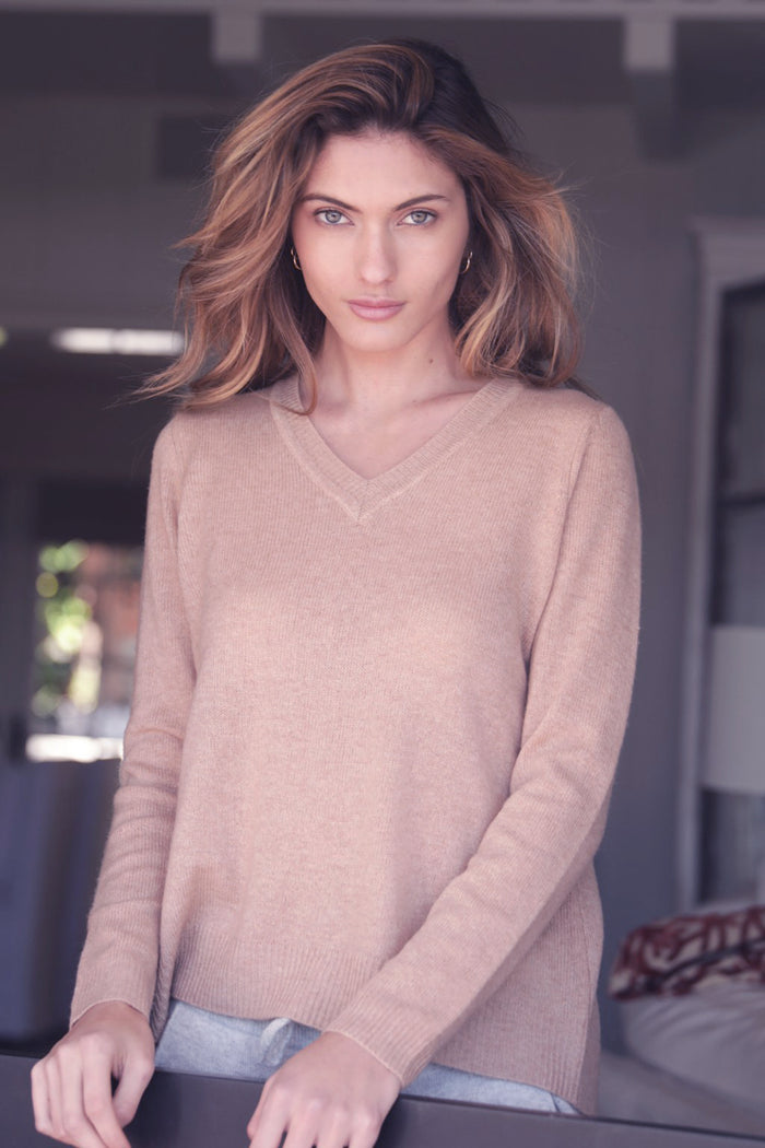 Oats Cashmere Kendra Too Sweater, Blush