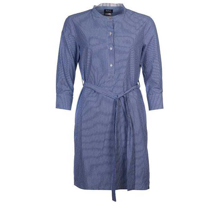 Barbour Lucie Dress , Navy/White