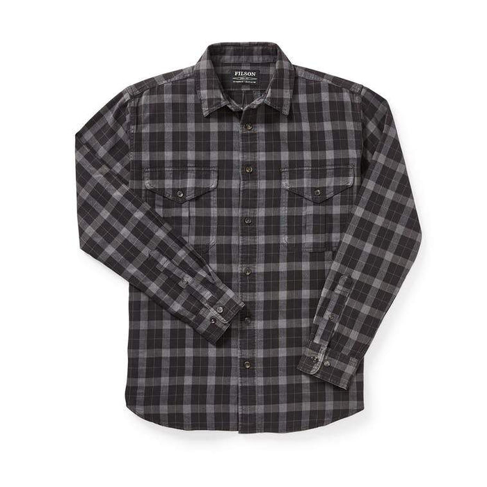 Filson Lightweight Alaskan Guide Shirt, Black / Charcoal