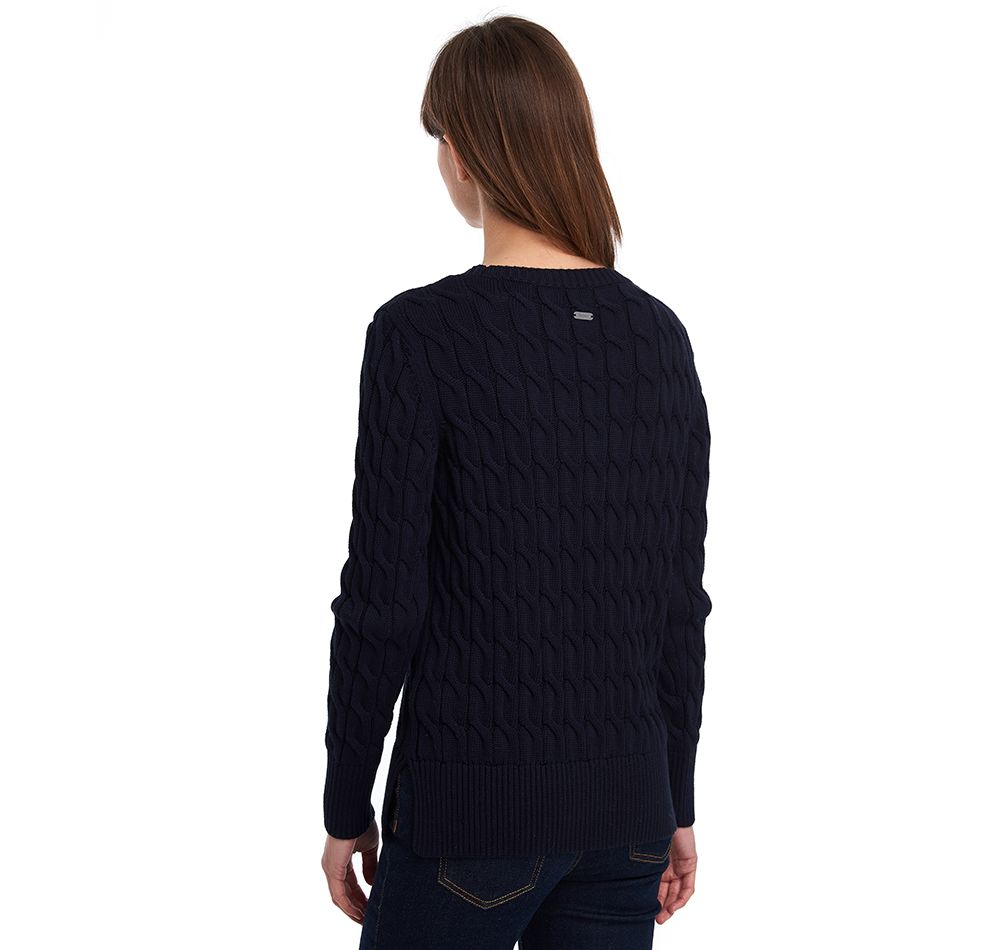 Barbour Lewes Knit Sweater, Navy