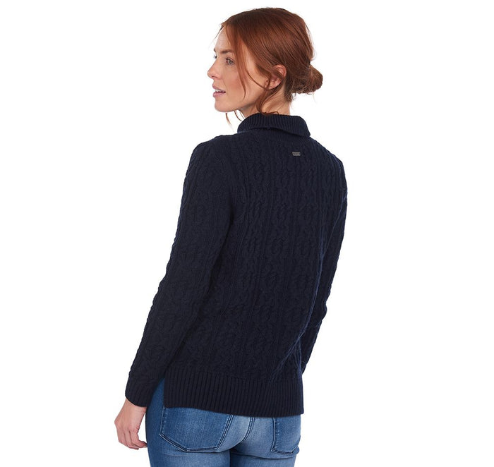 Barbour Burne Knit, Navy