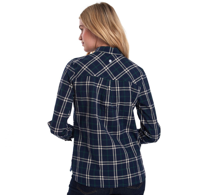 Clam Shirt, Navy/Green Check