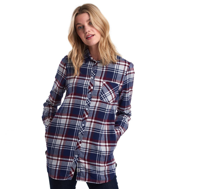 Windbound Shirt, Bordeaux/Navy
