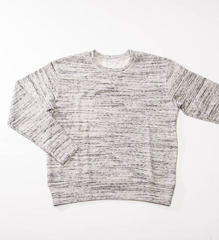the lady & the sailor Varsity Crewneck, Marble Knit