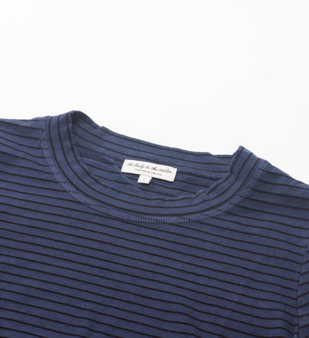 The Lady and the Sailor Classic Crewneck, Dusk Stripe