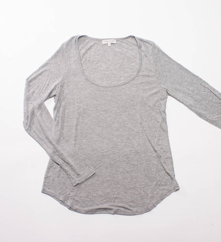The Lady and the Sailor LS Scoopneck Shirt, Heather Grey