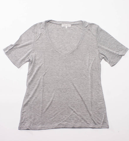 The Lady and the Sailor Vintage V-Neck Tee, Heather Grey
