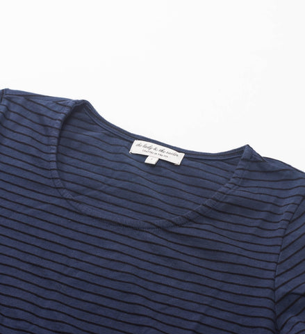 The Lady and the Sailor Wrist Tee, Dusk Stripe