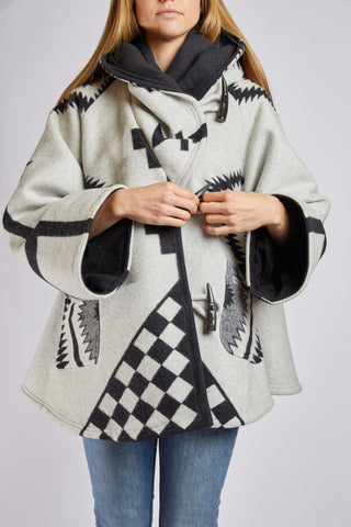 Lindsey Thornburg White Los Ojos Trench Cloak