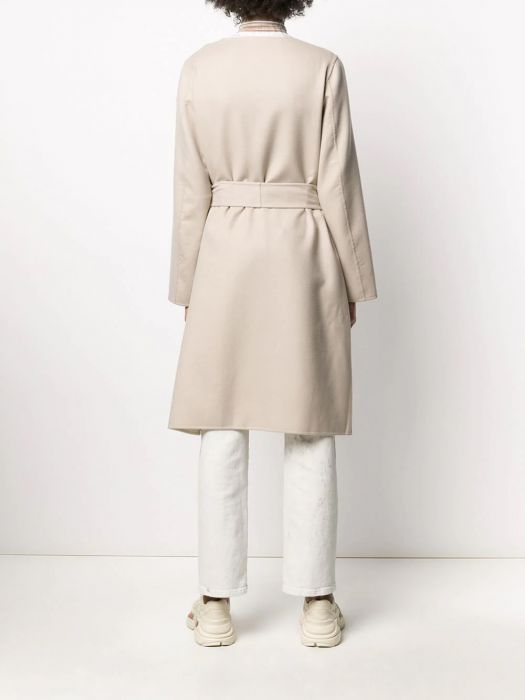 Herno Two Toned Double Faced Wool Coat , Beige/Panna