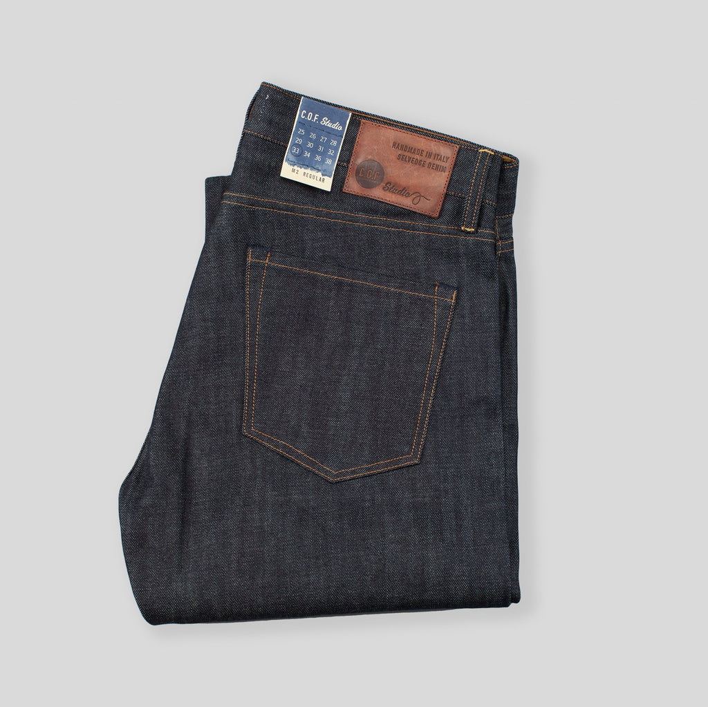 C.O.F. Studio M2 Regular 13 oz Indigo Selvedge , Unwashed