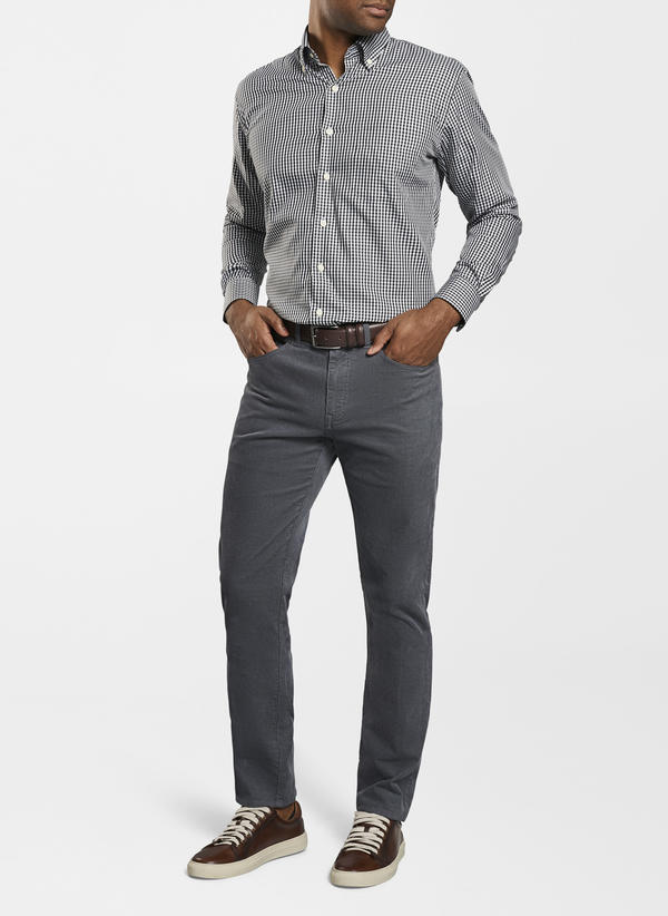 Peter Millar Superior Corduroy 5 Pocket, Smoke