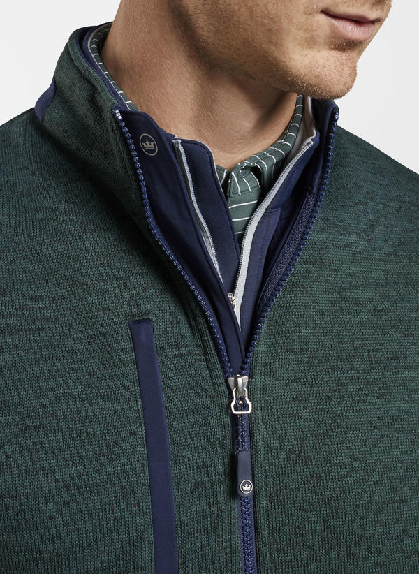 Peter Millar Legacy Wind Fleece Vest, Lacinato