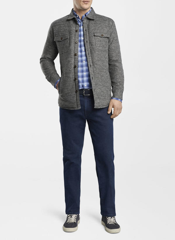 Peter Millar Mountainside Slub Soft Jacket, Dark Grey