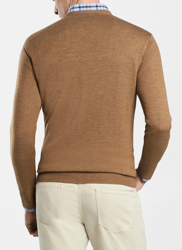 Peter Millar Crown Soft V-Neck, Bullet Brown