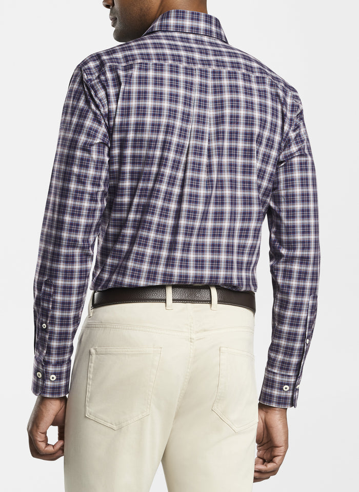Peter Millar Old Forge Plaid Shirt, Night Sky