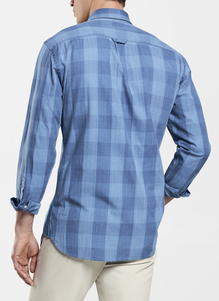 Peter Millar Seaside Old Saybrook Gingham Sport Shirt