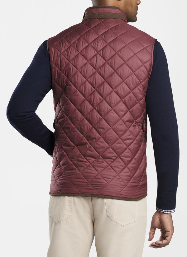 Peter Millar Essex Quilted Traveler Vest, Acai