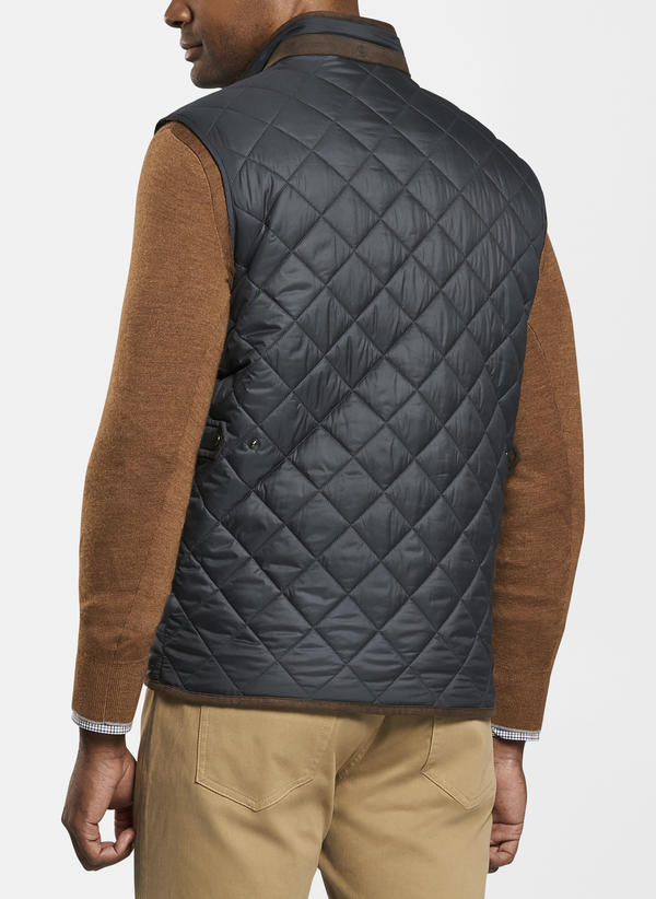 Peter Millar Essex Quilted Traveler Vest, Black