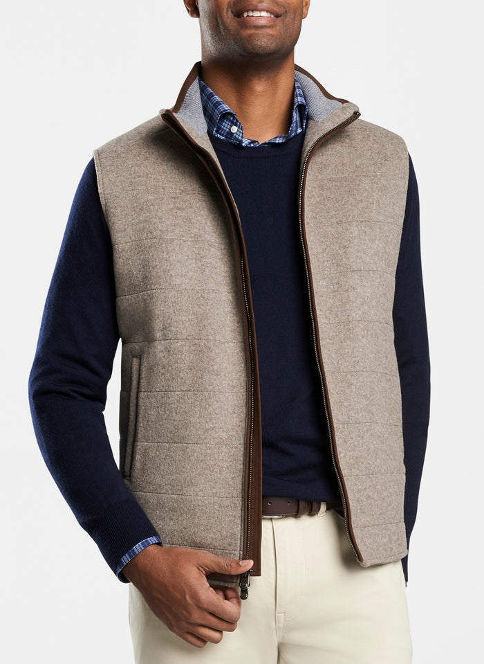 Peter Millar Crown Flex Fleece Vest , Grain