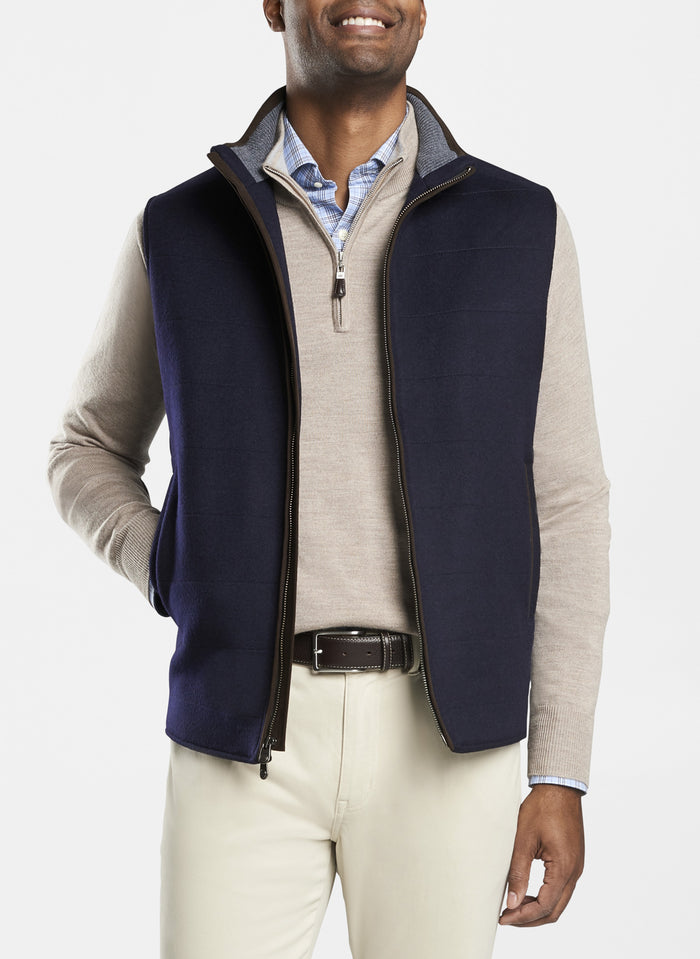 Peter Millar Crown Flex Fleece Vest , Navy