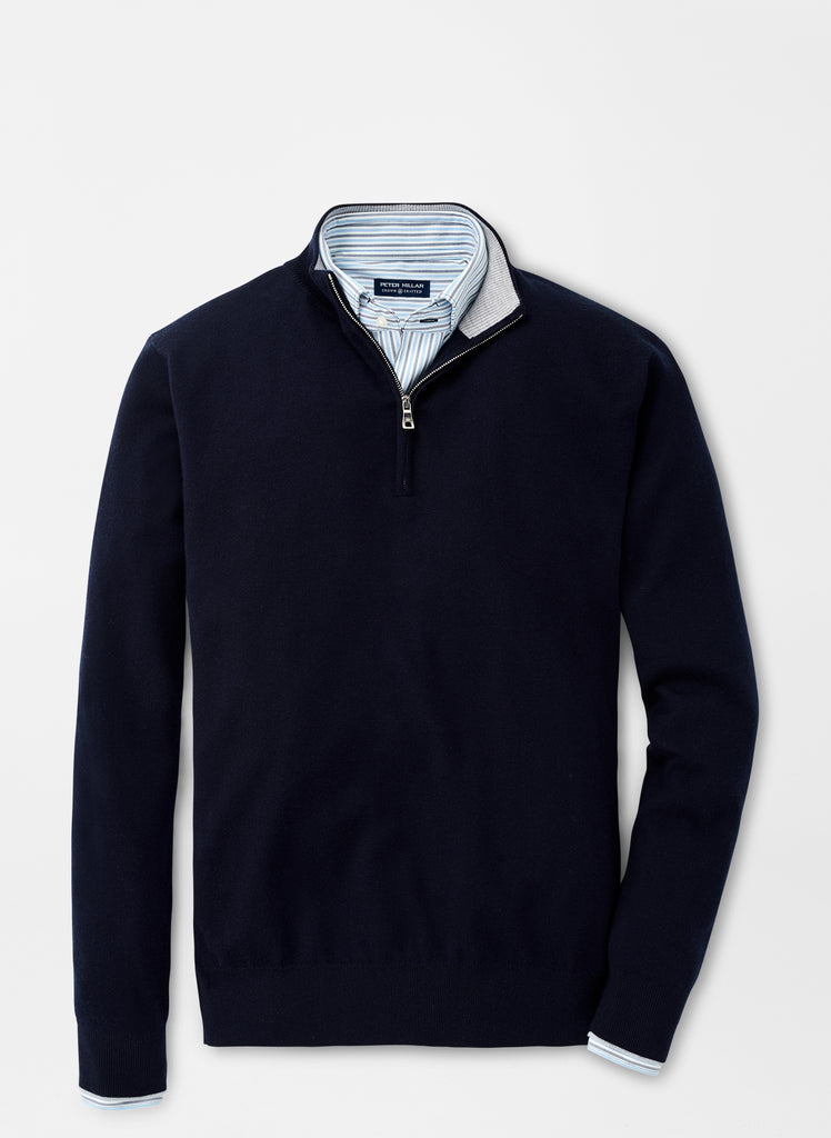 Peter Millar Victory Quarter Zip , Navy