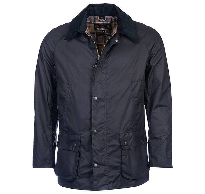 Barbour Ashby Wax Jacket, Navy