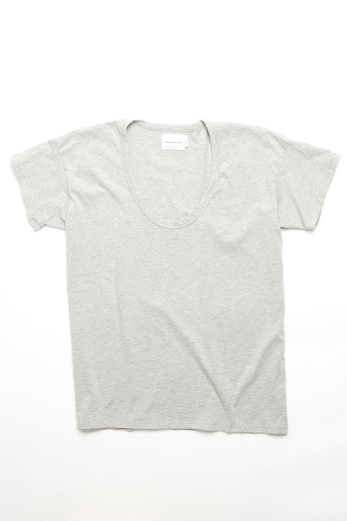 Maison Du Soir Drop Neck Tee, Grey