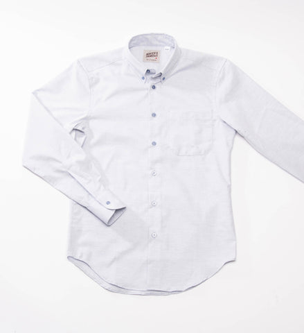 Naked & Famous Fruit Dyed Oxford Shirt, Blueberry