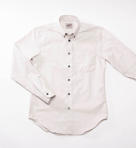 Naked & Famous Fruit Dyed Oxford Shirt, Green Tea