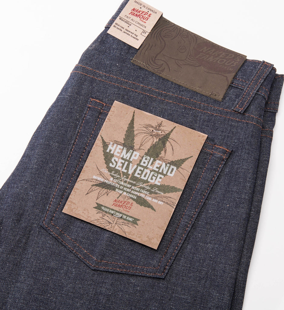 Naked & Famous Hemp Blend Selvedge Weird Guy Jeans