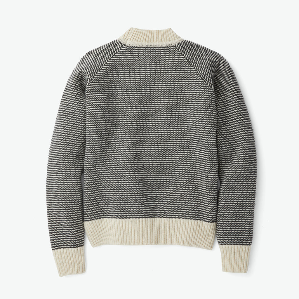 Filson Women's Nordic Wool Sweater, Black/Cream