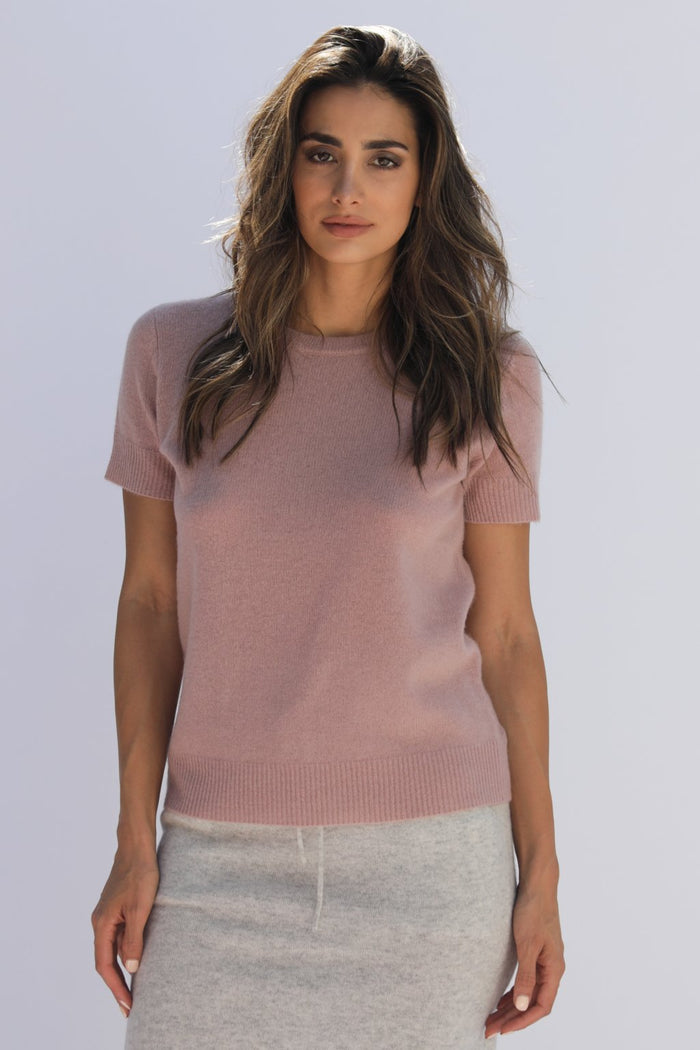 Oats Cashmere Vedra Sweater, Blush