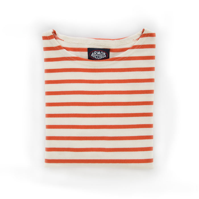 Armor-Lux Heritage 3/4 Sleeve Shirt, Orange (As seen in NYT)