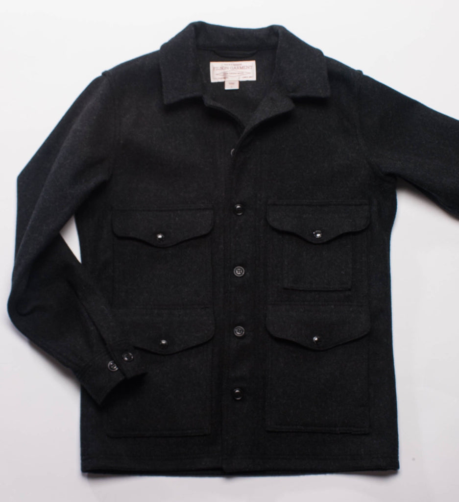 Filson Mackinaw Wool Cruiser Jacket, Seattle Fit Charcoal