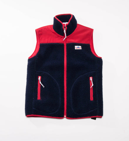 Penfield Mattawa Fleece Vest, Navy