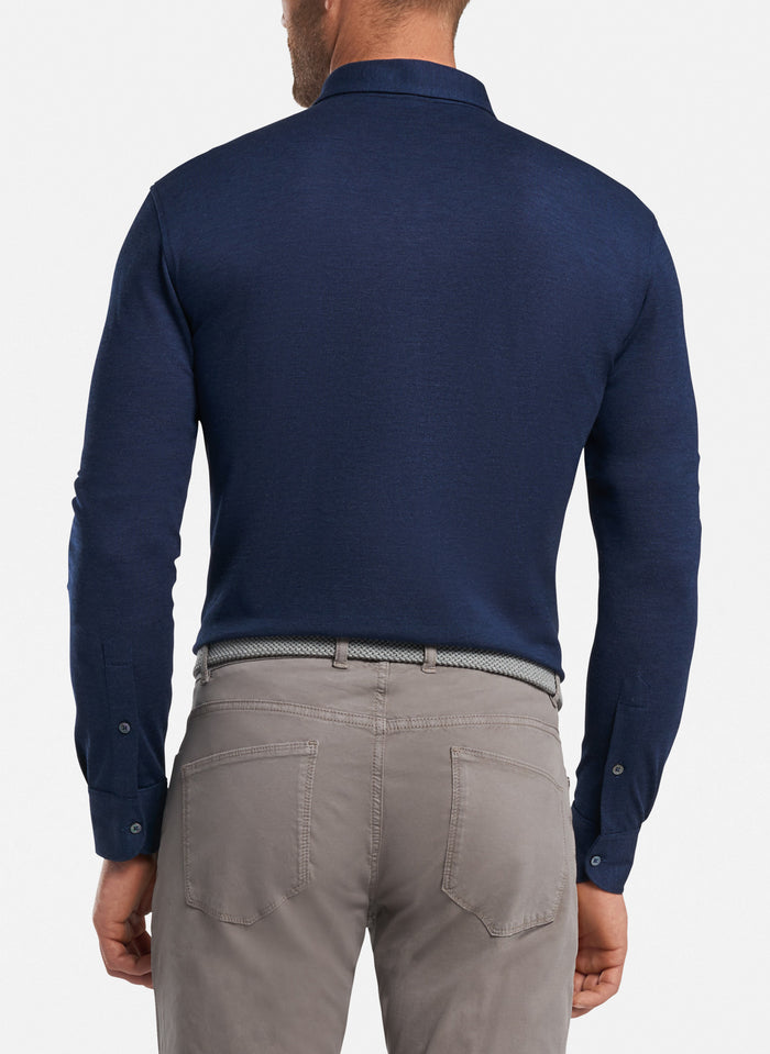 Peter Millar Avon Silk Cotton Polo, Starlight Blue