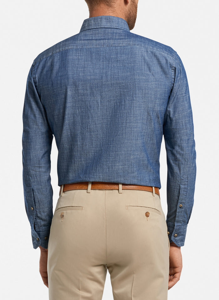 Peter Millar Collection Chambray, Dark Chambray