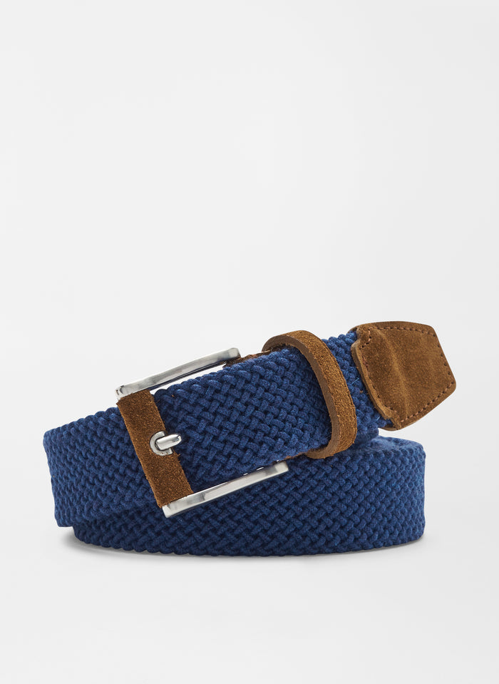 Peter Millar Collection Woven Belt, Starlight Blue