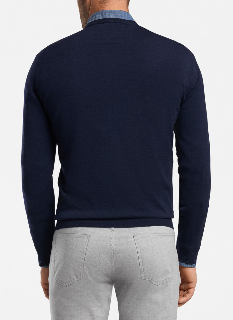 Peter Millar Excursionist Flex Crewneck Sweater, Barchetta