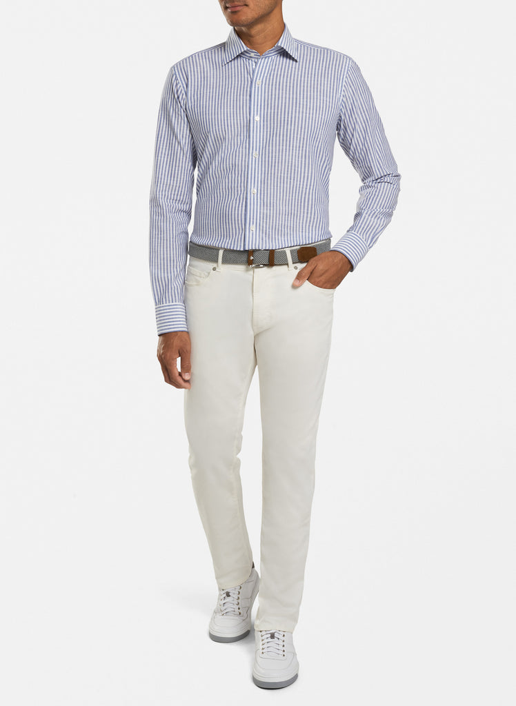 Peter Millar Summer Chambray Stripe, Avio Blue