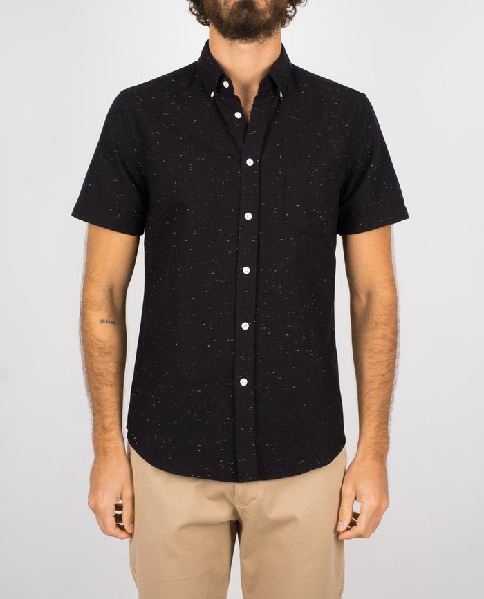 Portuguese Flannel Blur Shirt, Black