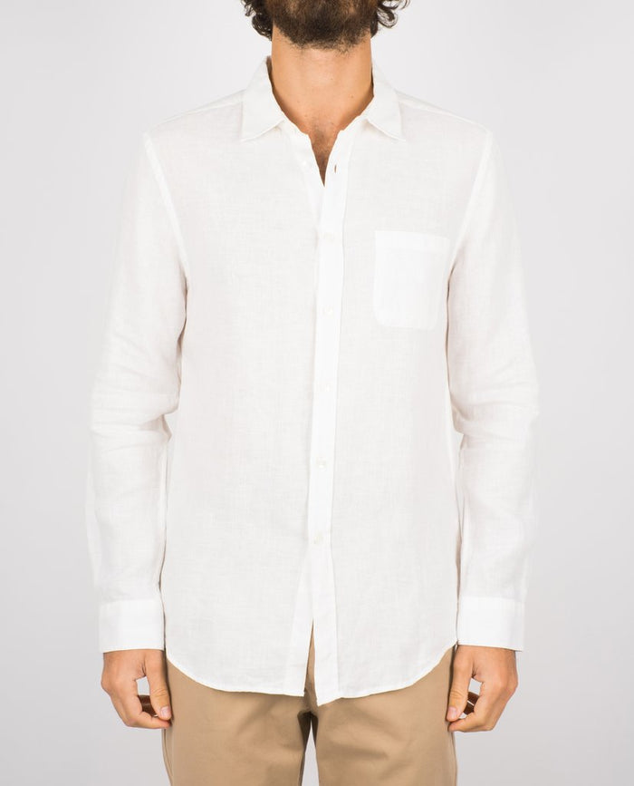 Portuguese Flannel Linen Shirt, Off White