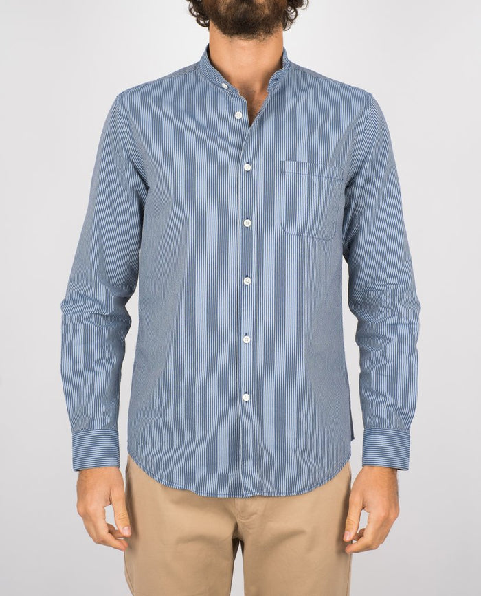 Portuguese Flannel Mao Shirt, Light Blue