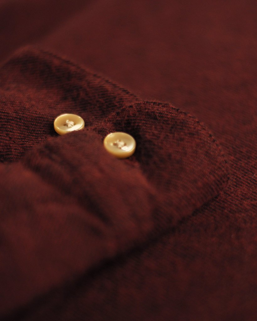 Portuguese Flannel Teca Shirt, Bordeaux
