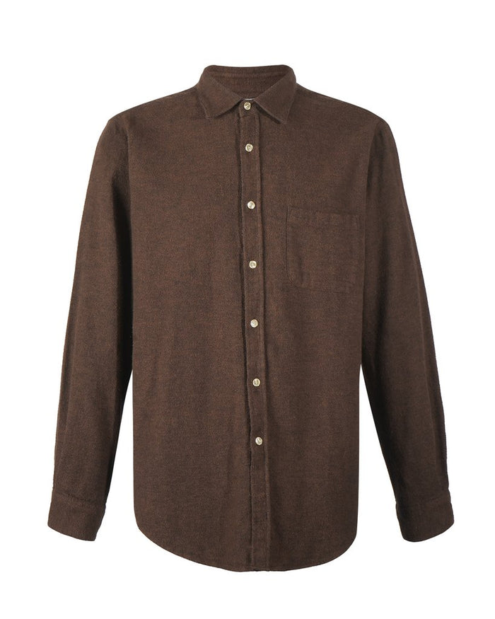 Portuguese Flannel Teca Shirt, Brown