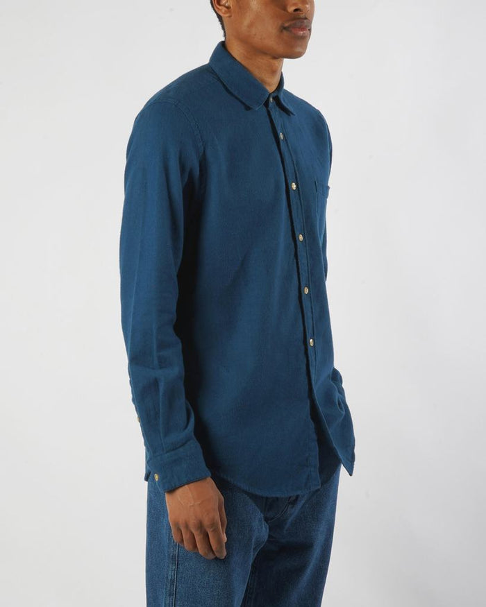 Portuguese Flannel Teca Shirt, French Blue