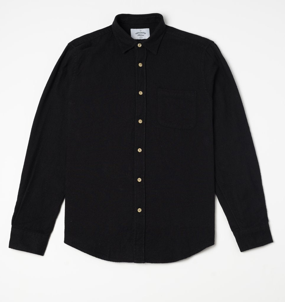 Portuguese Flannel Teca Shirt, Black