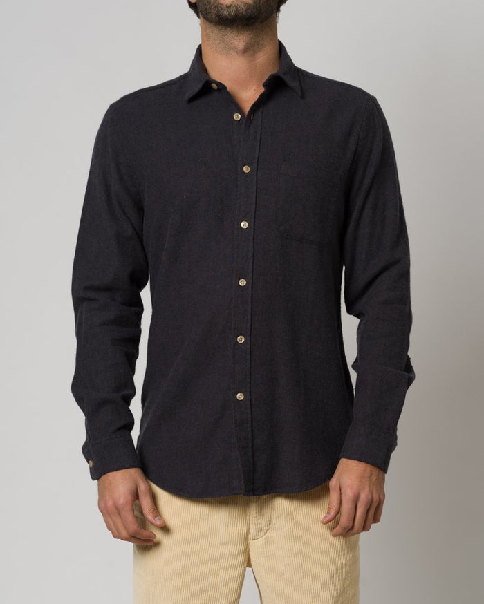 Portuguese Flannel Teca Shirt, Grey